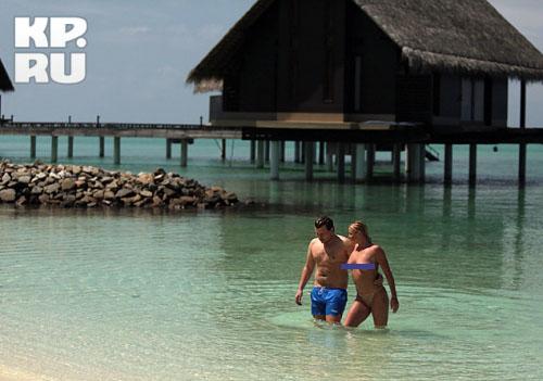Волочкова и Басков на Мальдивах. Фото.