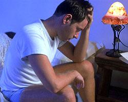 Бессонница, как результат стресса и неумения расслабиться. Фото.