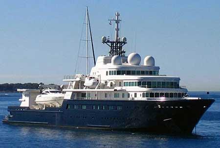 Le Grand Blue. Фото яхты.