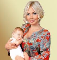 Маша Малиновская с сыном. Фото.