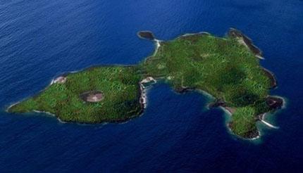 Остров семьи Онассис Skorpios. Фото.